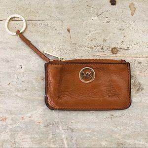 ♥️ Michael Kors  ♥️ Tan Keychain Wallet